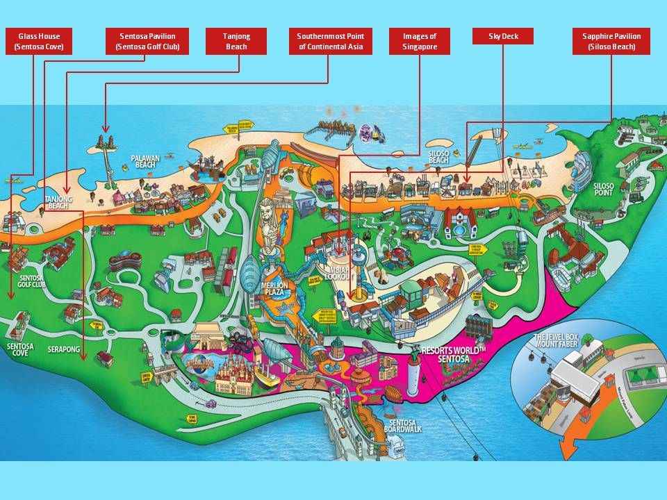 Sentosa Island Map Pin by Babu designcbe on TAMIL | Tourist map, Singapore