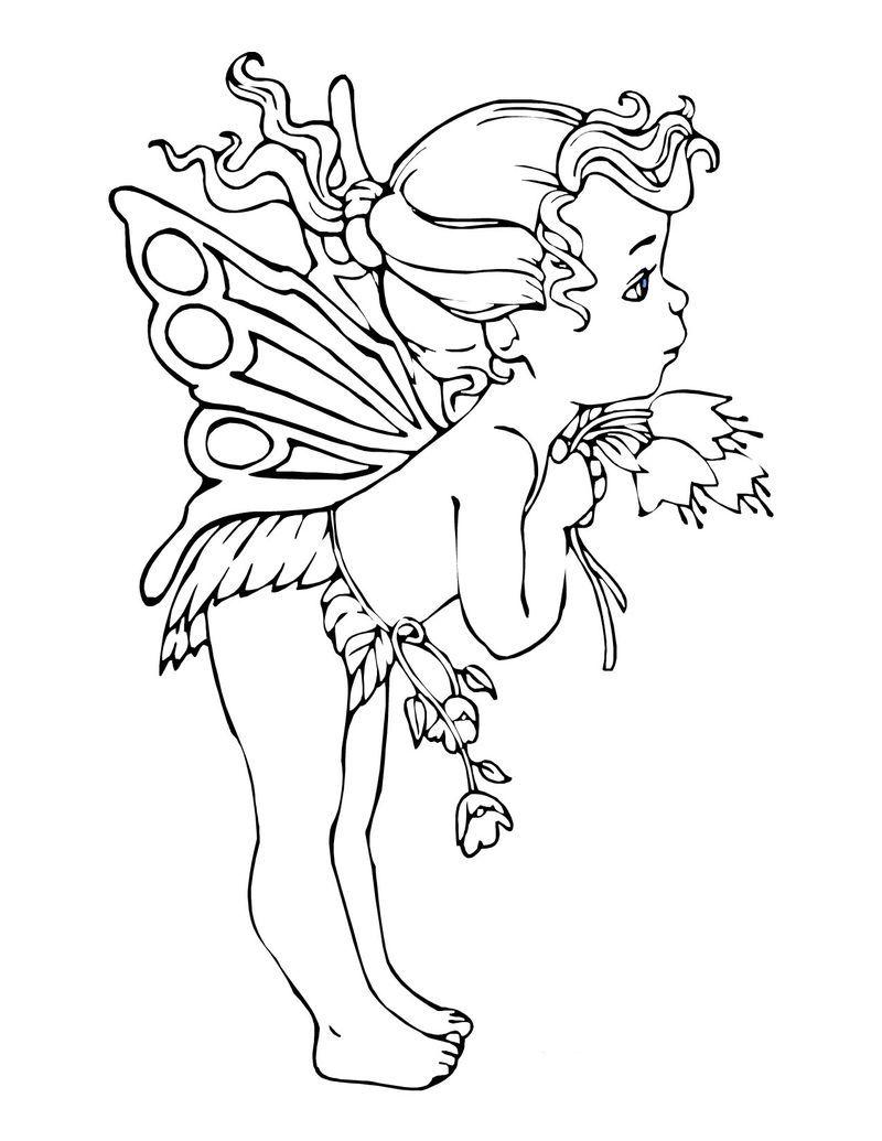 Fairy Coloring Pages Printable Siluet