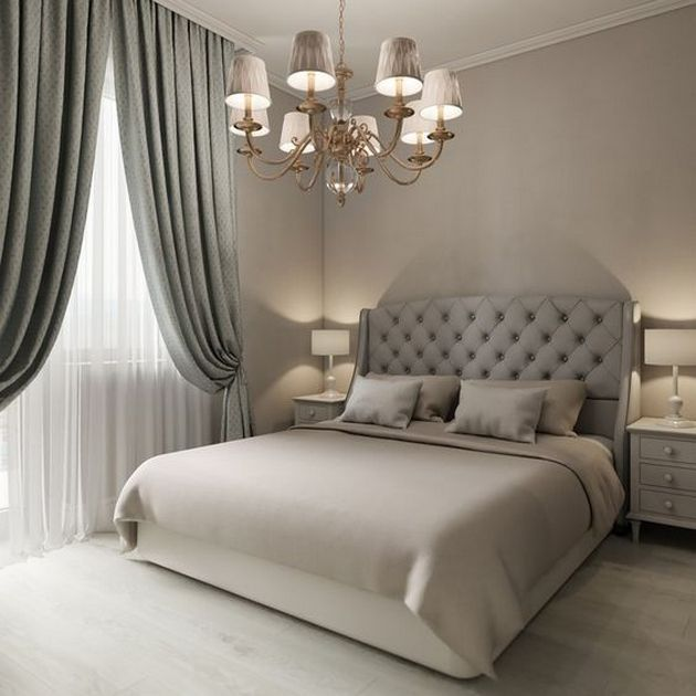 Beautiful Grey Upholstered Bed Decor Color Schemes_27 Pictures