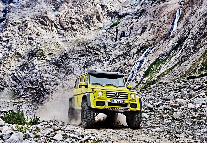 high clearance mercedes-benz G 500 4x4² conquers off-road terrains