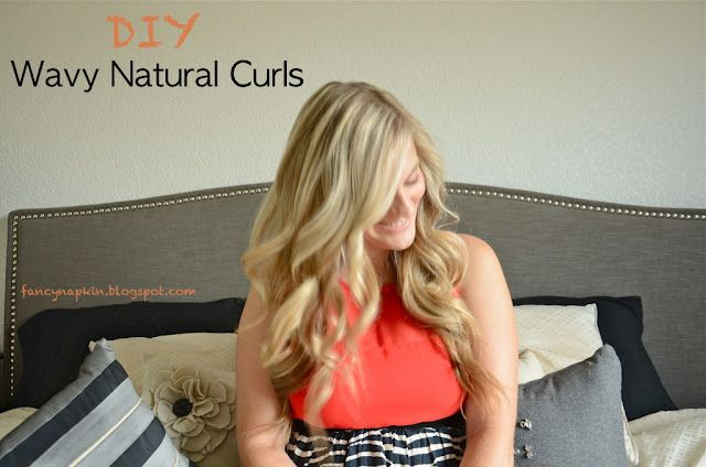 How to tutorial of natural wavy curls from Fancy Napkin
