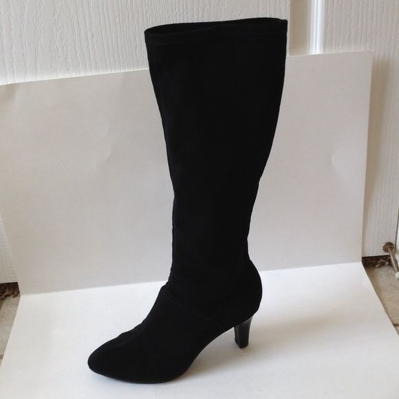 """Black boots Black knee high boots. 2"""" heel Alex Marie Shoes Over the Knee Boots"""