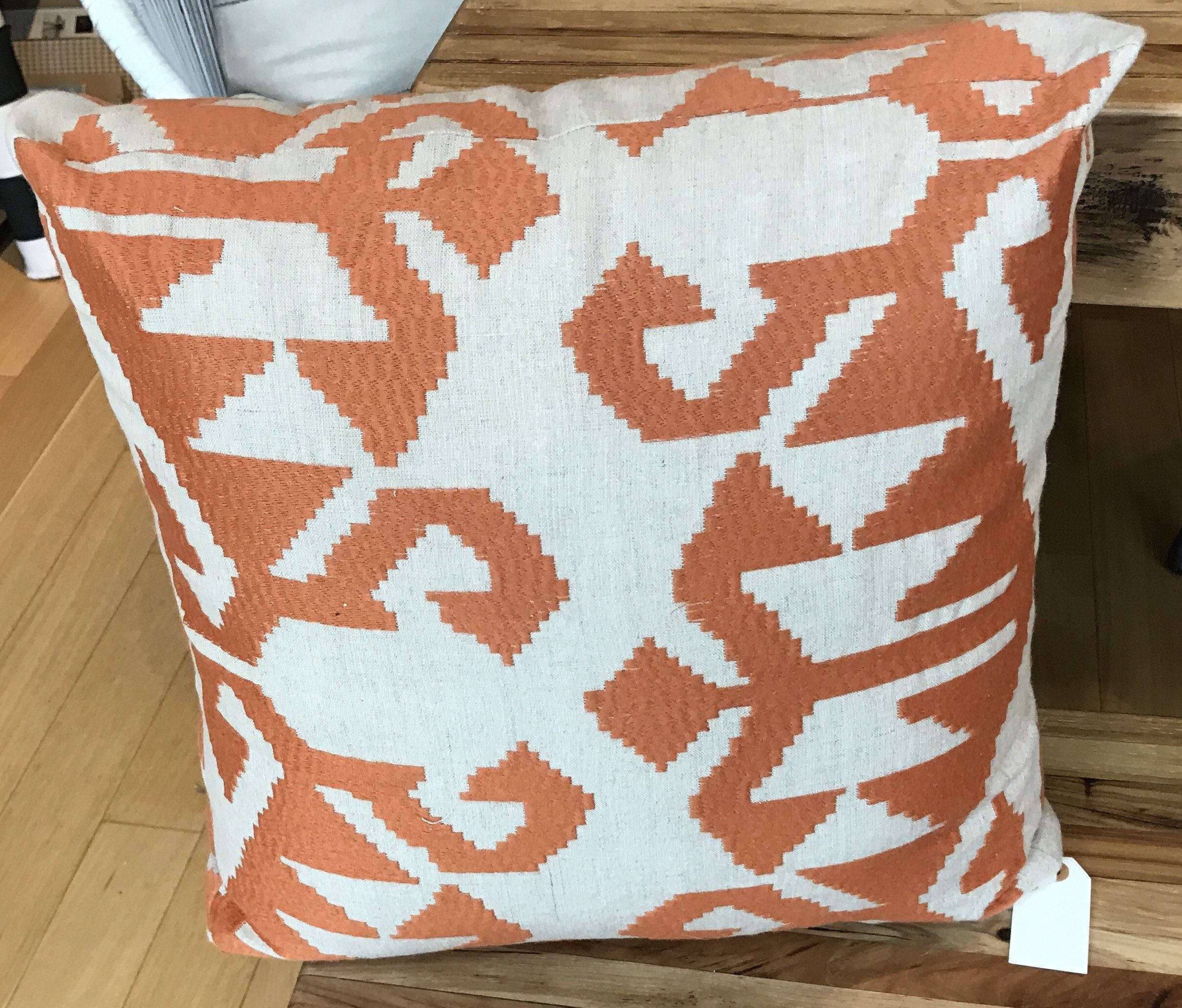 outdoor tangerine rizzy pillow geometric pillows accent throw inch orange pin con dao polyester size indoor x home