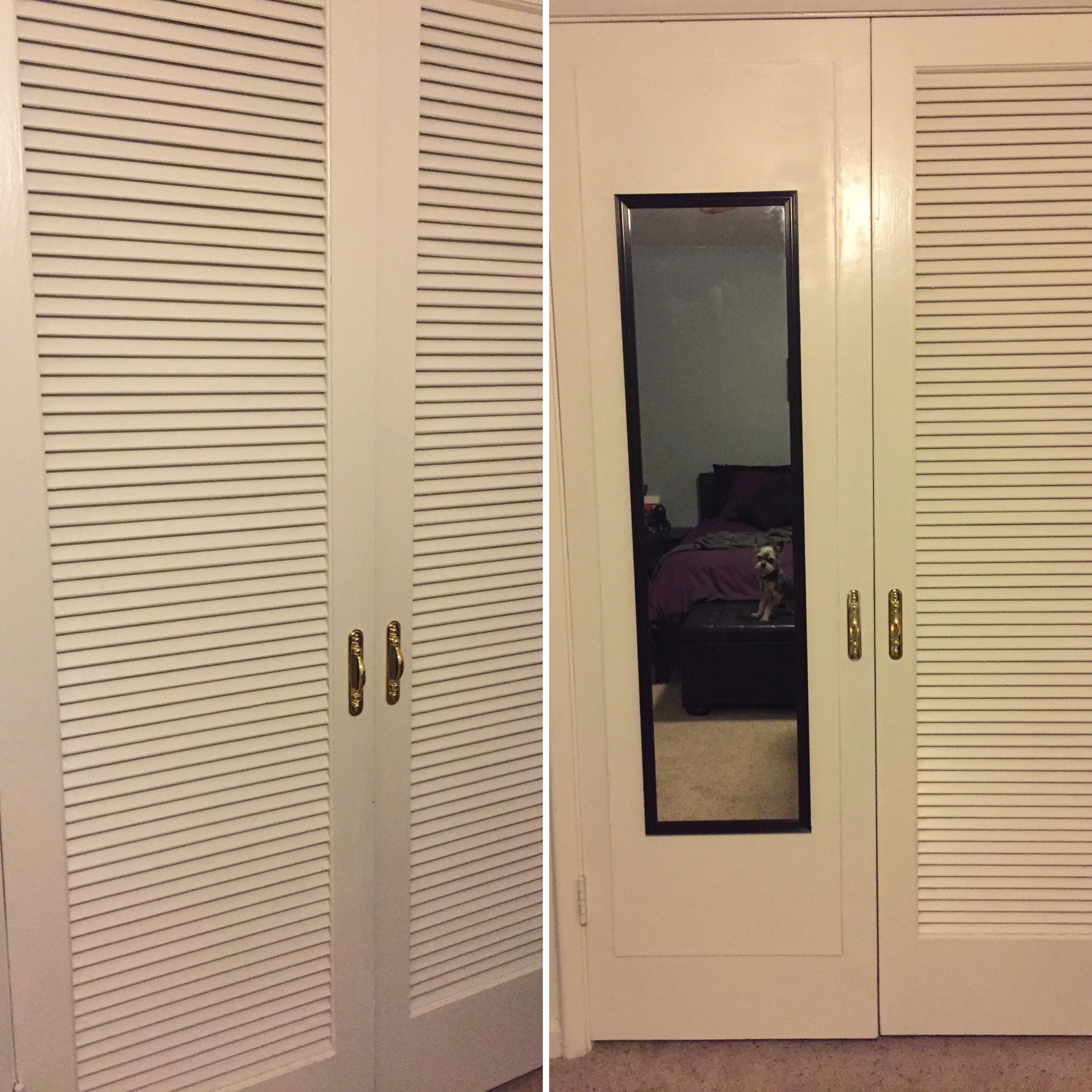 Diy Upgrade To Cover Slats On Closet Door With Thin Plywood New