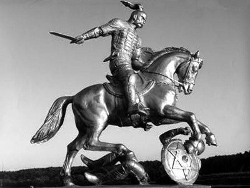 Sculpture commemorating Svyatoslav's victory over the Khazars