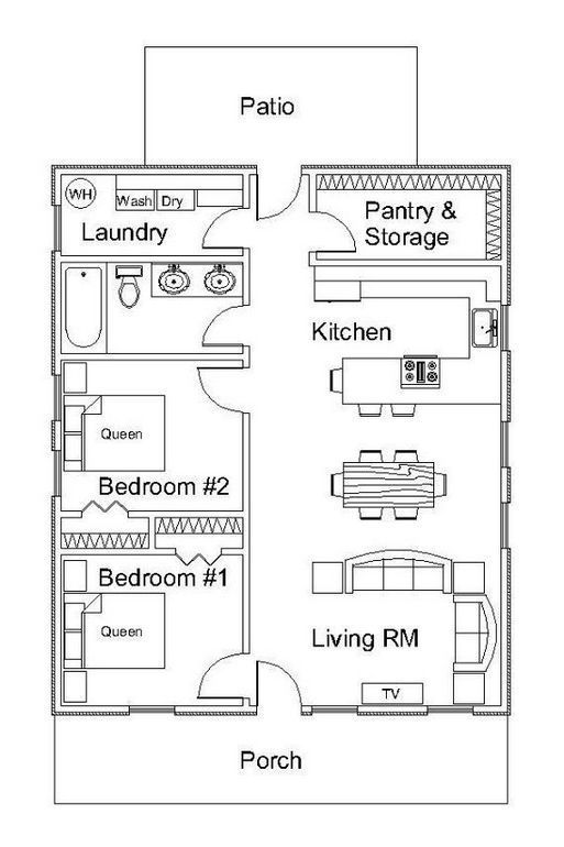 Best 25 The Small Kitchen Layout With Island Floor Plans Tiny 400 x 300