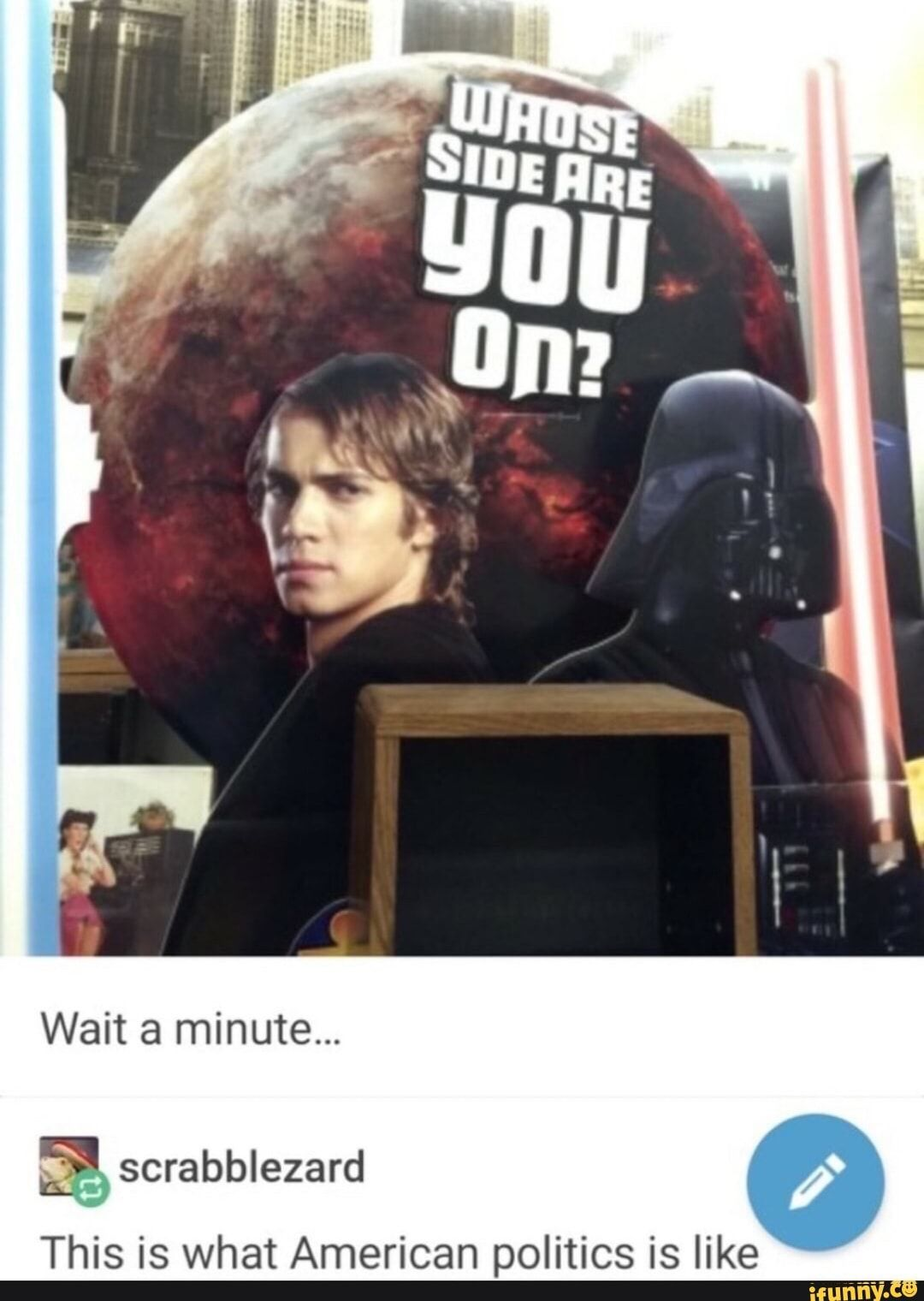 This Is What American Politics Is Like Ifunny Funny Star Wars Memes Star Wars Humor Star Wars