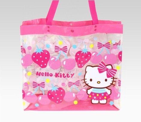 Hello Kitty Strawberry Beach Bag  28. Clear vinyl. In-store    www.PinkHouseBoutique.com  sanrio  hellokitty 862f233681ba1
