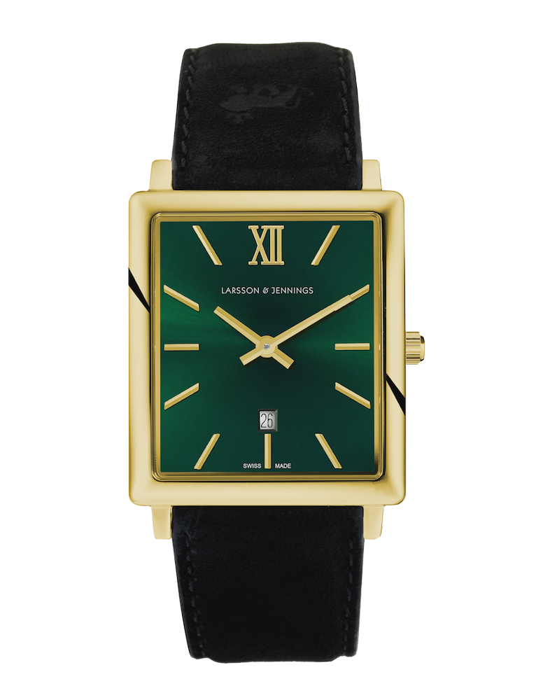 8a115a4d1c5 Larsson   Jennings - NORSE 40MM SUNRAY GOLD GREEN WATCH