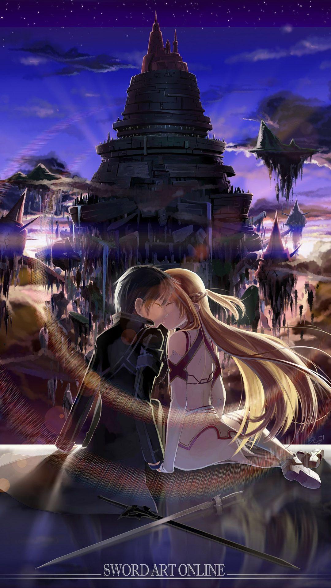 asuna and kirito - sword art online mobile wallpaper 5828 | sweet
