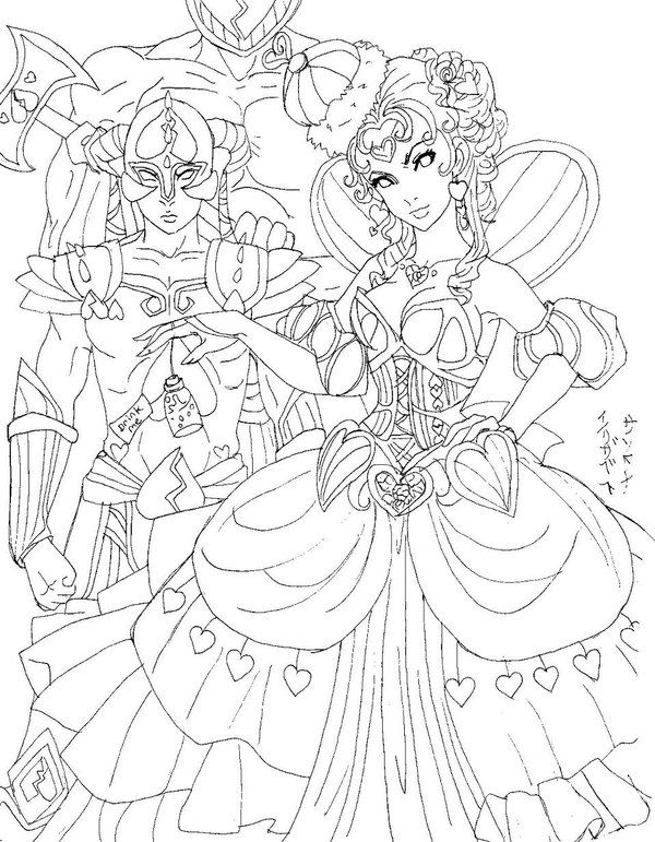 Queen Of Hearts Lineart By Reenigrl Deviantart Com On Deviantart