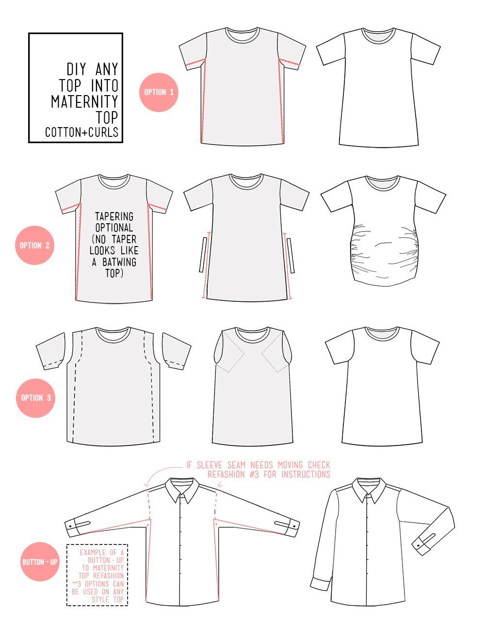 Tee Met Maternity Shirts Diy Diy Maternity Clothes Sewing Maternity Clothes
