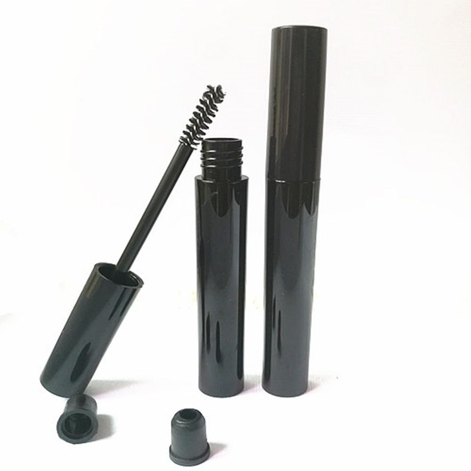 2ef0470b85a 10ml empty black plastic PETG mascara container bottle tube with brush