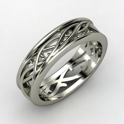 Like Vines We Intertwine Celtic Wedding Rings Mens Wedding Rings White Gold Rings