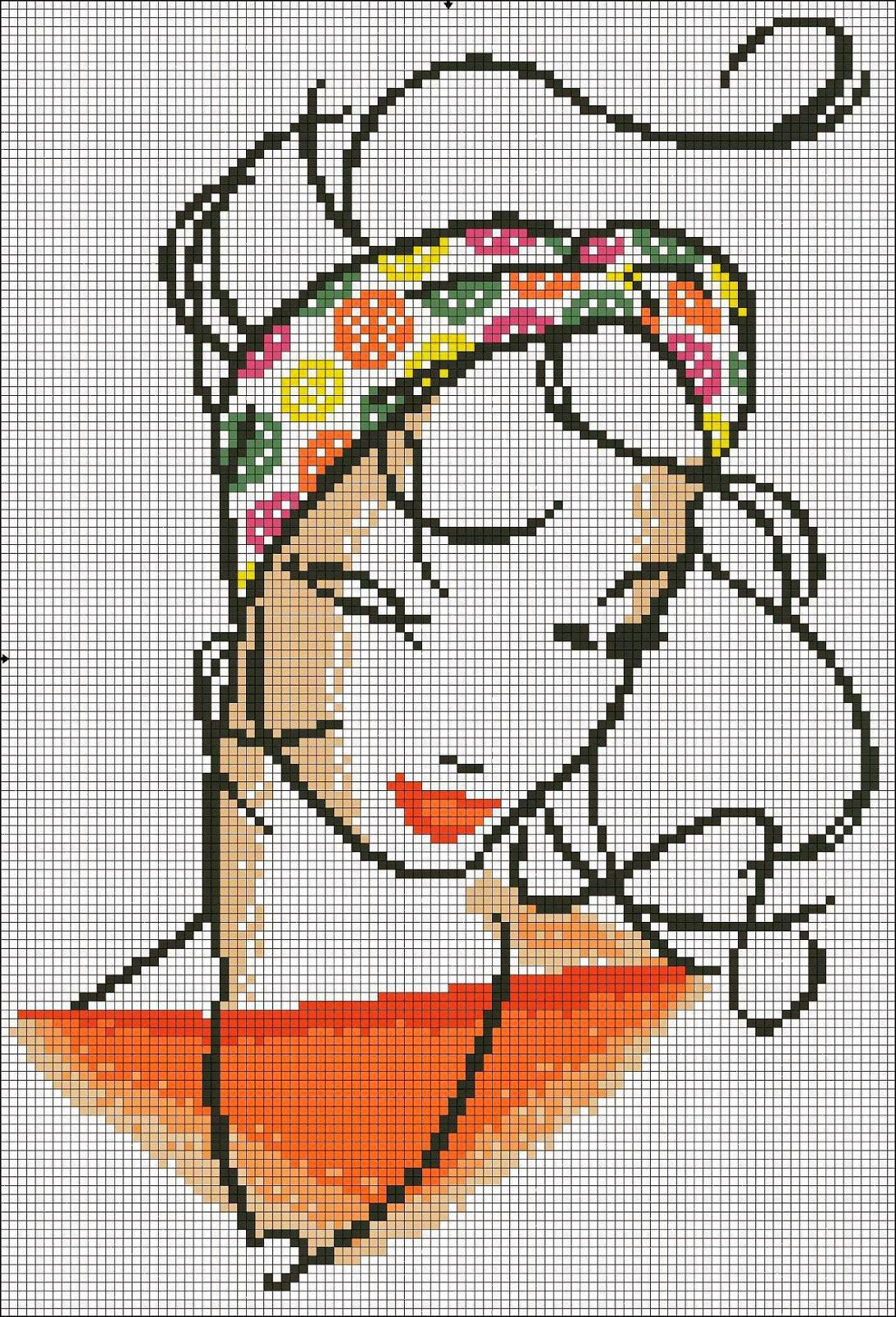 GRAFICOS PUNTO DE CRUZ GRATIS : MONOCROMO(42) | Láminas niños y ado ...