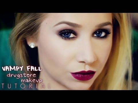 Vampy Fall Drugstore Complete Makeup Tutorial - Girlscene