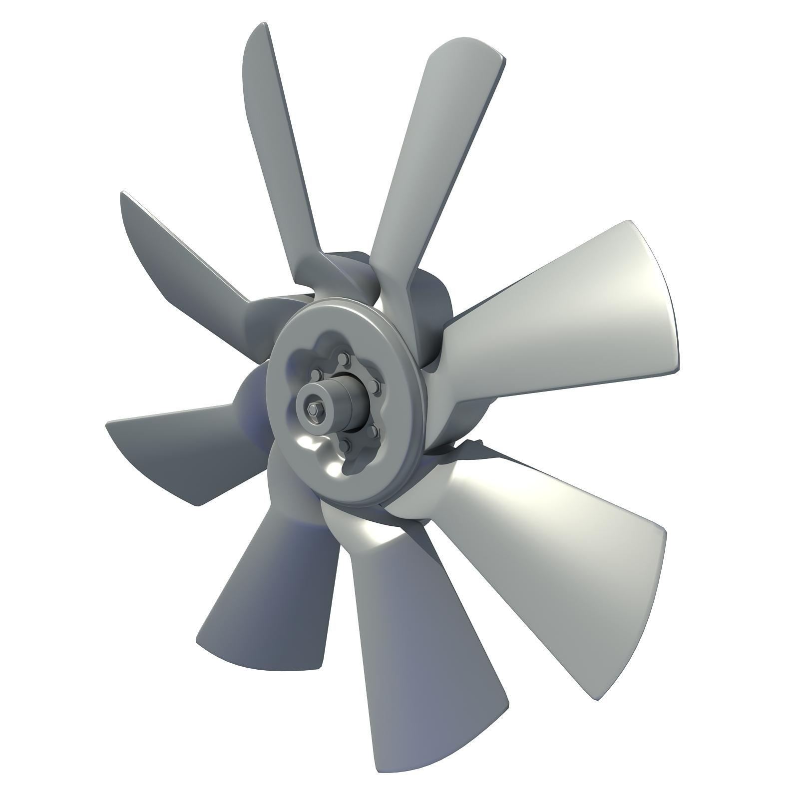 Engine Cooling Fan 3d Model Ad Cooling Engine Model Fan