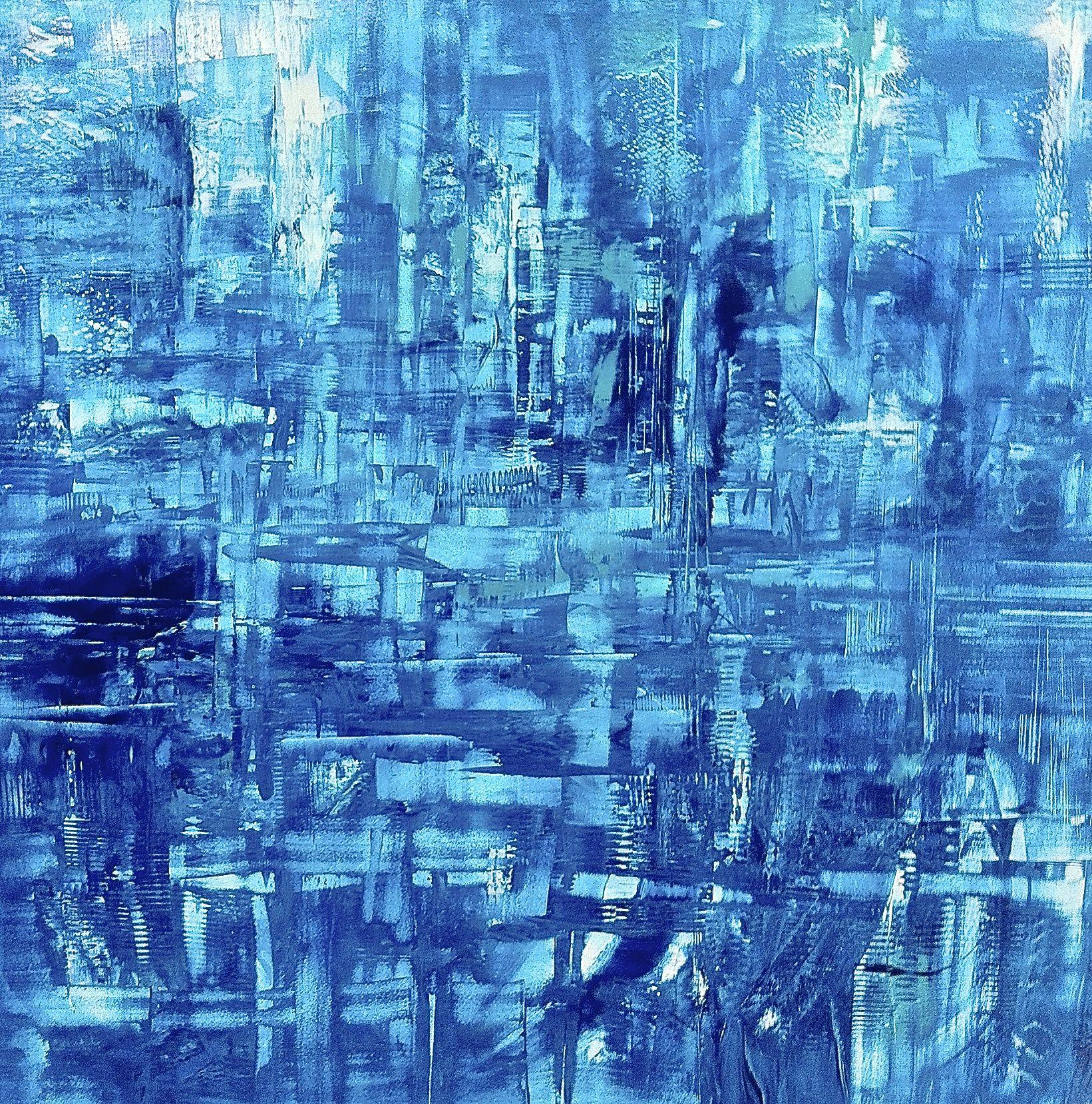 Big Blue, oil on panel, 48x48, 2013