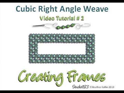 Cubic Right Angle Weave video tutorial - Create a Frame - YouTube