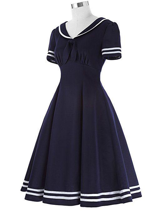 1950er vintage rockabilly kleid damen casual kleid ...