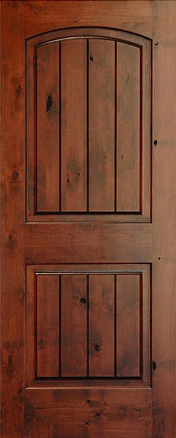 Beautiful Rustic Arch V Grooved Knotty Alder Wood Door   Mediterranean   Interior  Doors   Other Metro   By Homestead Doors, Inc.