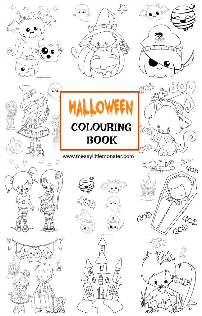 Halloween Colouring Pages Halloween coloring, Witch cat and Free - free halloween decorations printable