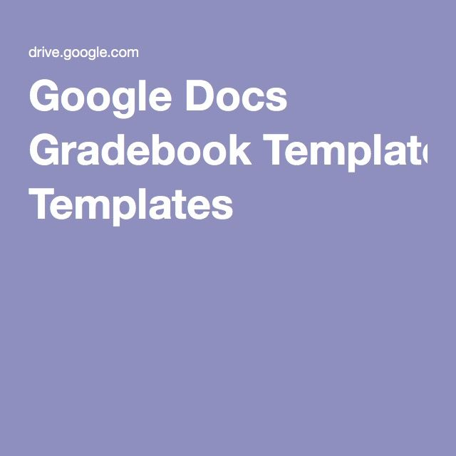 Resume Template Google Doc Google Docs Gradebook Templates  Lesson Planning  Pinterest
