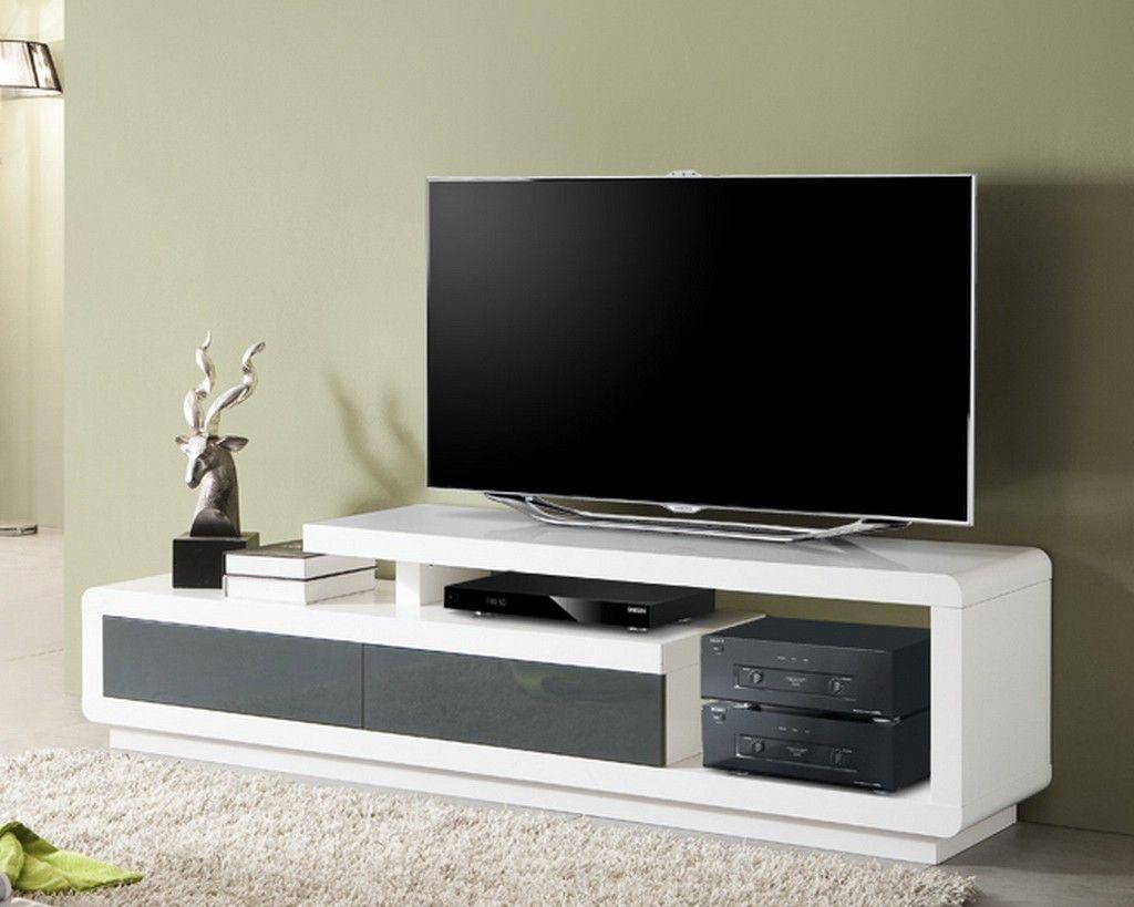 Impressionnant Meuble Tv Gris Et Blanc D Co Pinterest Meuble  # Meuble Tv Gris Et Blanc