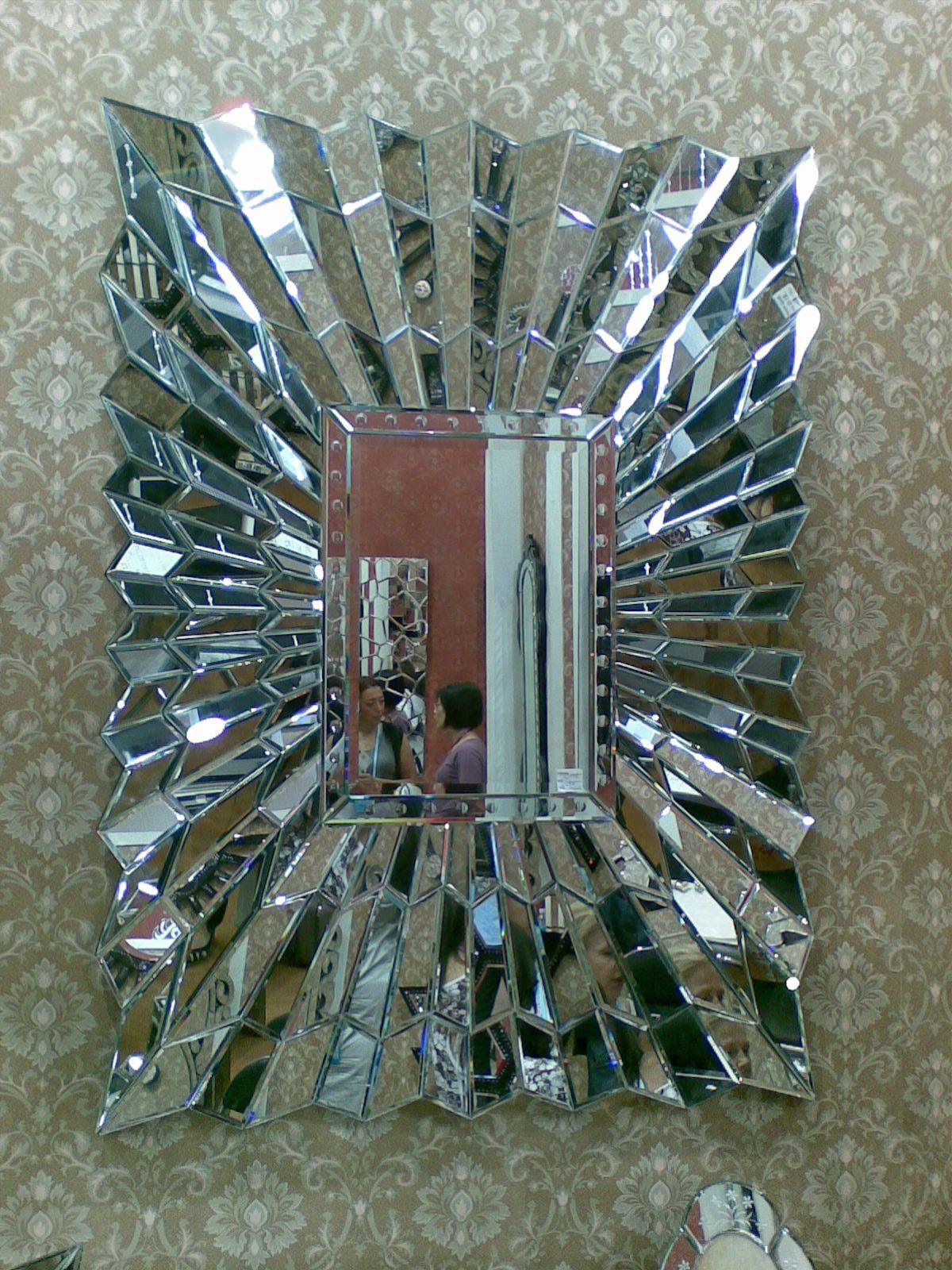 Amazing Mirror Beautifully Crafted Large Bevelled Wall Mirror With Individual Pieces Of Glass Layered At Angles Whic Beautiful Mirrors Mirrors Unusual Mirror