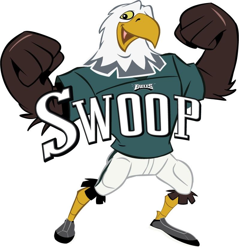 Philadelphia Eagles Swoop mascot logo. Philadelphia