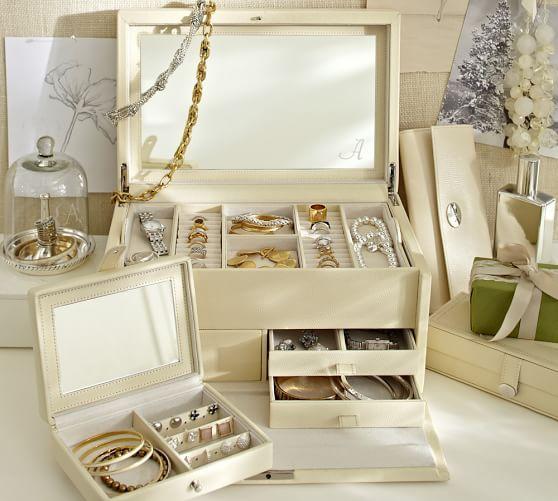 Personalized Mckenna Leather Jewelry Armoire Jewellery