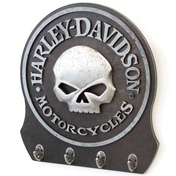 Harley Davidson Willie G Skull 3 D Key Rack