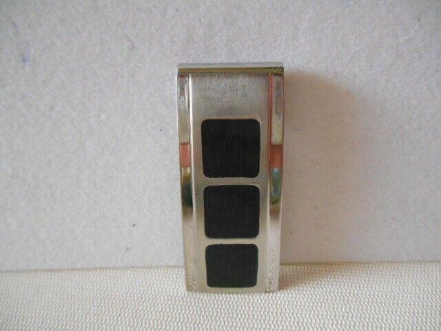 Vintage LDI Stainless Steel Silvertone & Black Mo