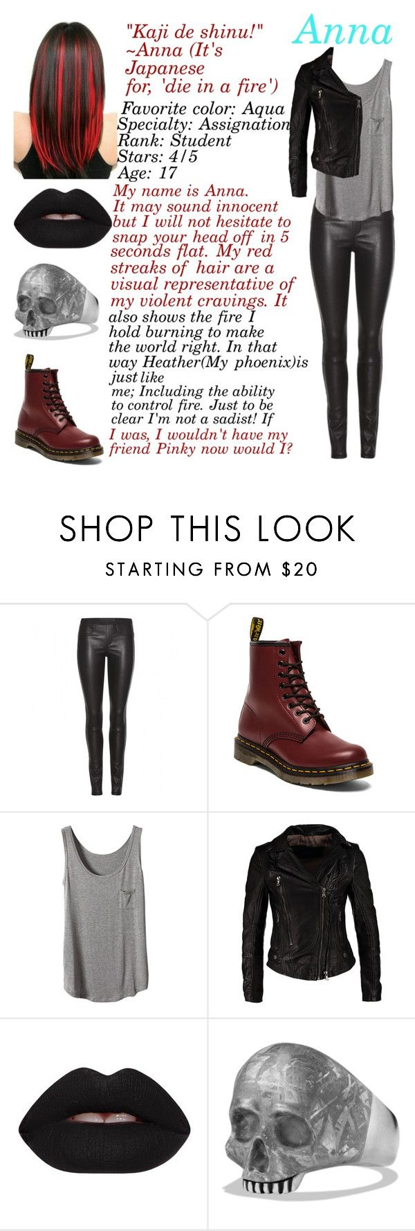 """Anna - CMMA"" by weird-isawesome ❤ liked on Polyvore featuring Helmut Lang, Dr. Martens, Lime Crime and David Yurman"