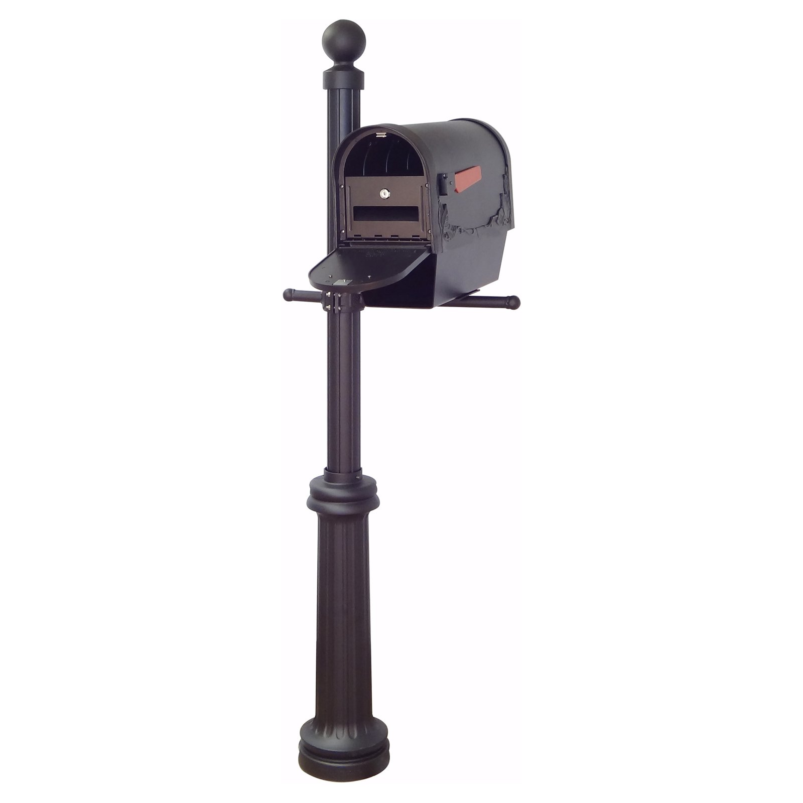 Special Lite Products Floral Curbside Mailbox With Newspaper Tube And Locking Insert And Fresno Mailbox Post Mailbox Mailbox Post Traditional Mailboxes
