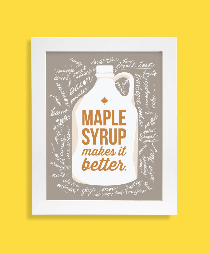Tricia O - Maple Syrup print