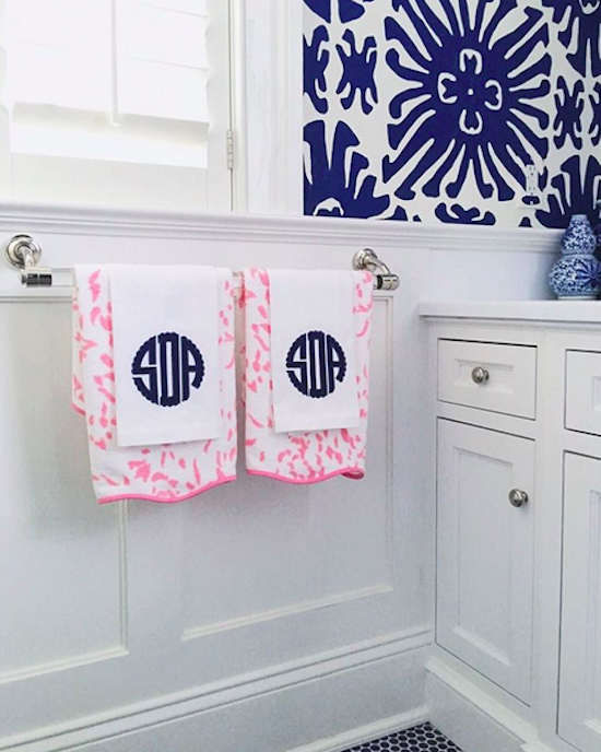 Monogram Hand Towels Guest Bath