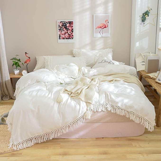 Softta Luxury and Elegant White Bedding Twin