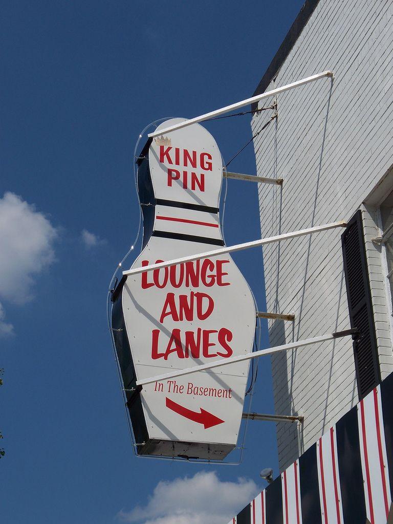 Oh Toledo King Pin Lounge Lanes Vintage Neon Signs Neon Signs Toledo