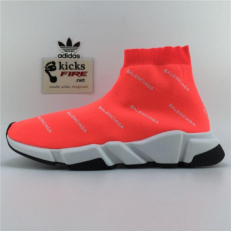 BALEN Stretch Mesh High Top Sneaker Orange