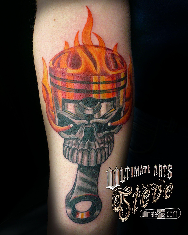 Flaming art tattoo for geek tattoo lovers this kind of batman - Bad Ass Car Tattoosskull