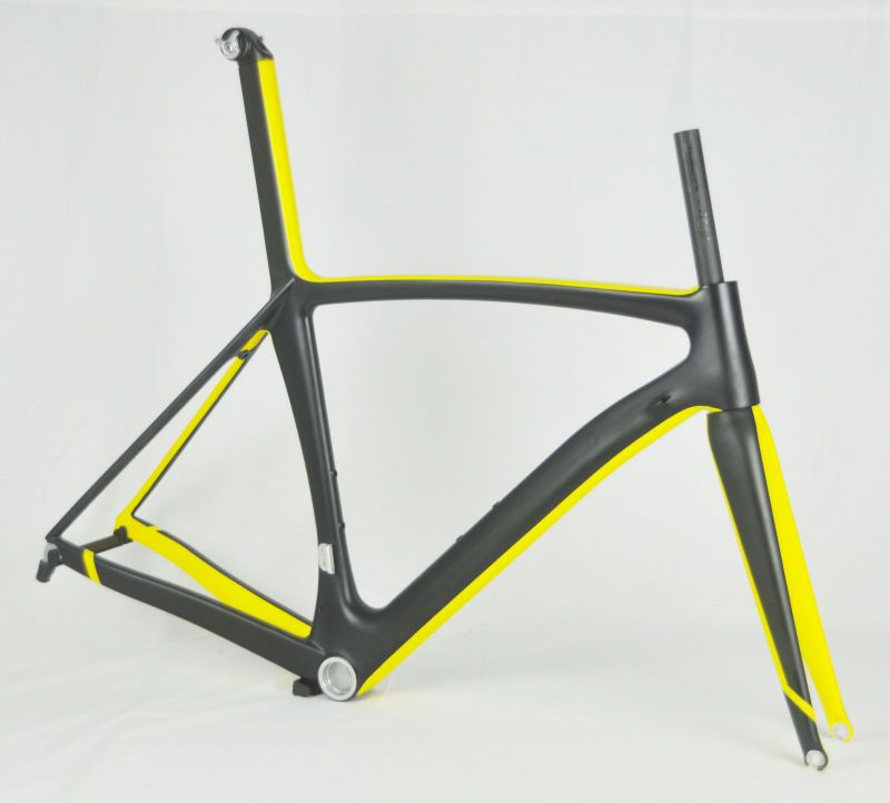 Ud/yellow Matte Paint Carbon Bicycle Frames & Road Racing Carbon Frame & 700c Carbon Road Bike Fm039 Photo, Detailed about Ud/yellow Matte P...