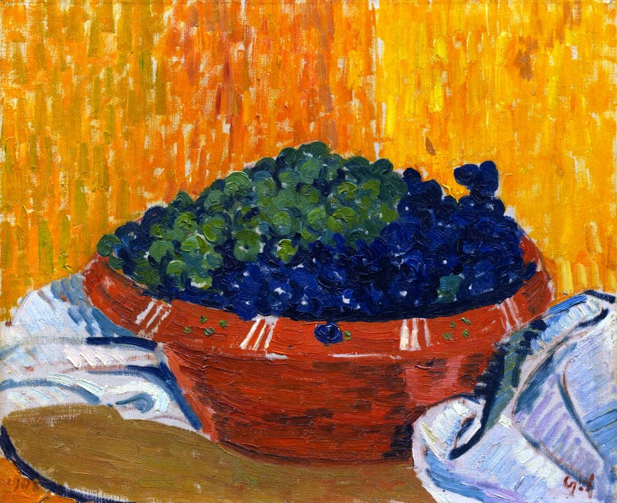The Athenaeum Bowl Of Grapes Giovanni Giacometti Peintre