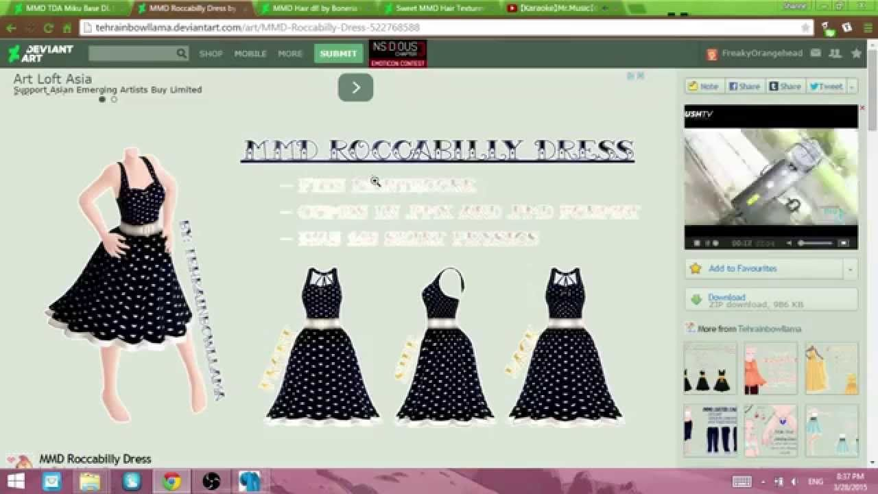 PMX Editor] Adding Clothes   MMD - Animating & Posing   Clothes, Ads