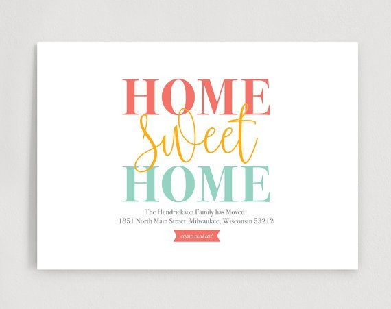 Weu0027ve Moved, New Home Announcement, New Address, Moving - announcement template