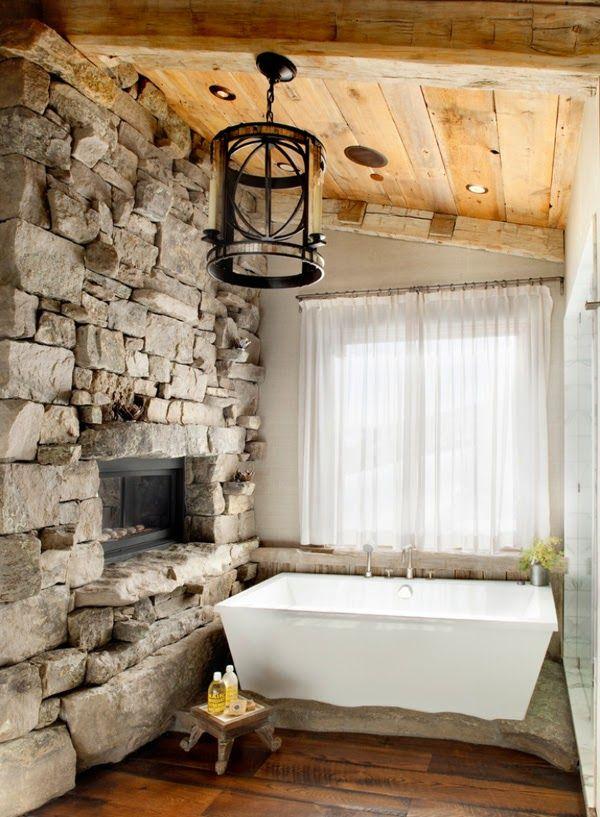 30 ideas de decoración para baños rústicos pequeños Spaces and House