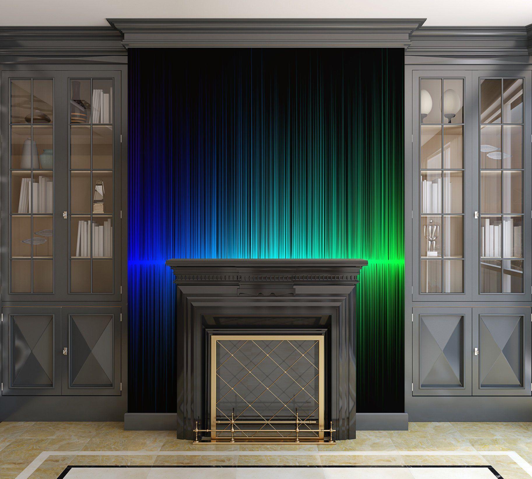 Rainbow Radio Waves Peel and Stick Removable Wallpaper