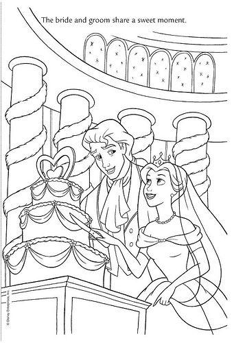Wedding Wishes 15 By Disneysexual Via Flickr Belle Beauty Beast Disney Princess Wedding Coloring Pages Disney Coloring Pages Cinderella Coloring Pages