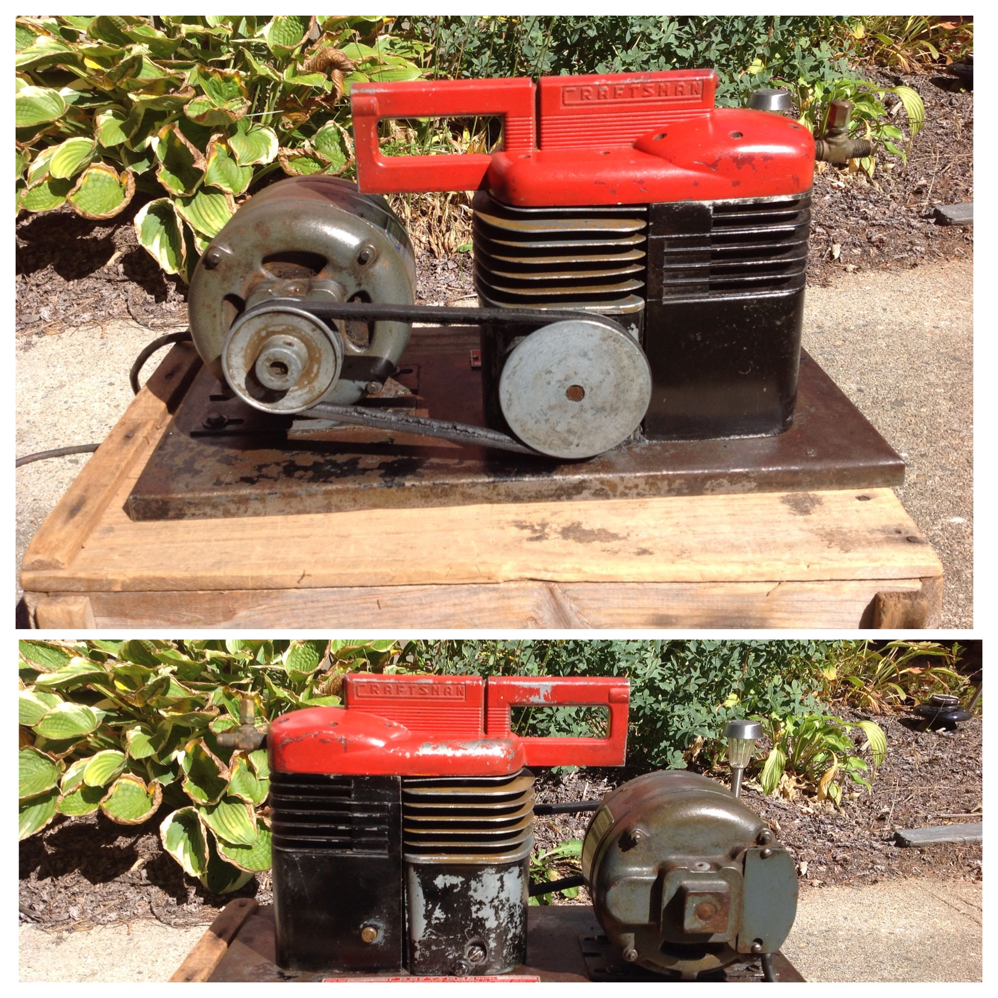 1940's deco style craftsman air compressor. A neat