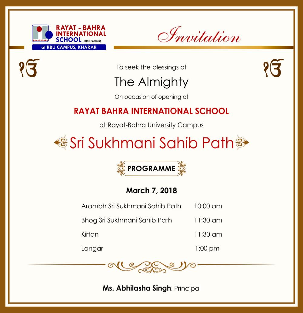 Invitation Templates Akhand Path 5 Templates Example Templates Example Invitation Template University Invitations Invitations